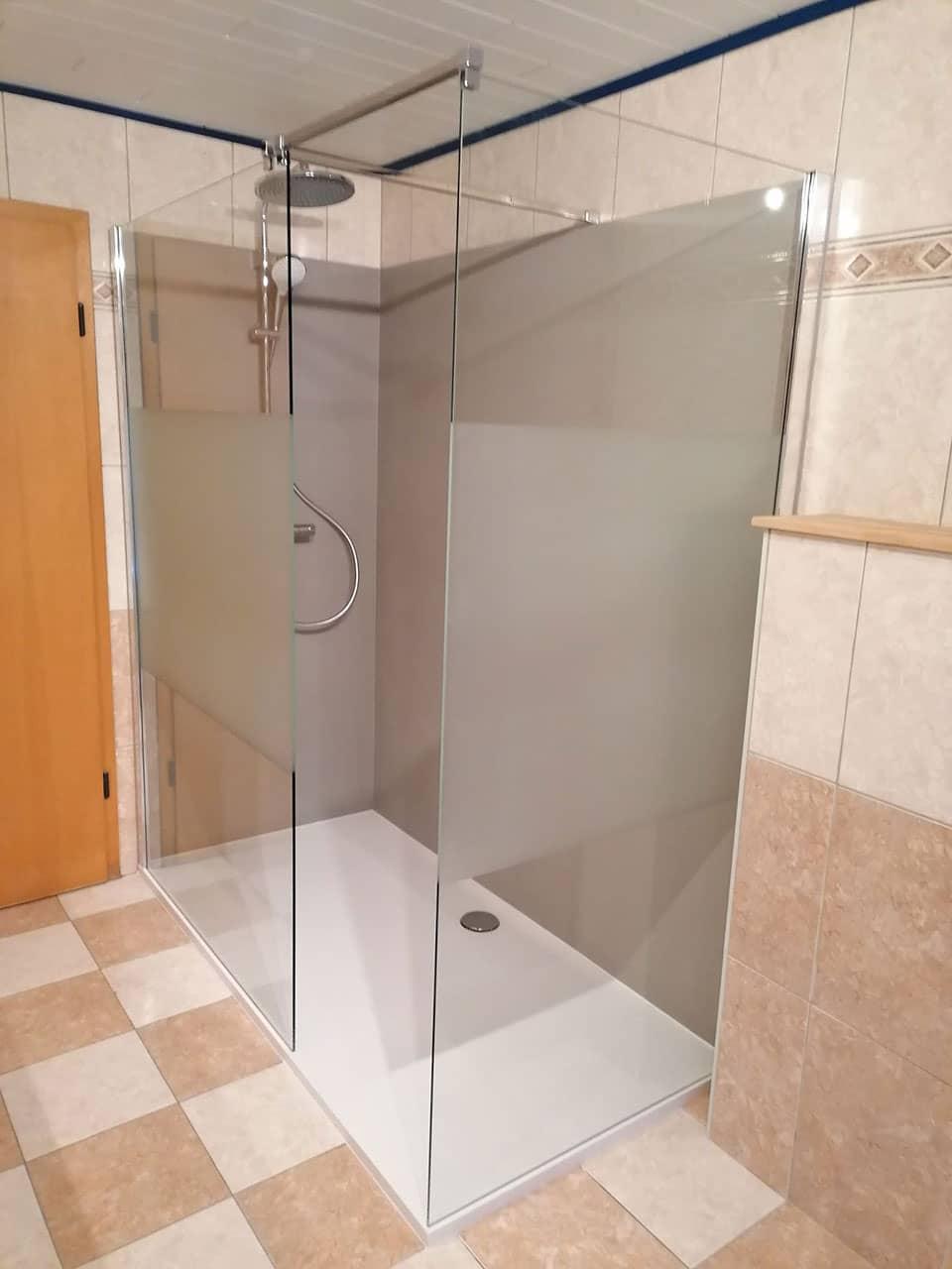 Transformation d'une baignoire en douche